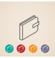 isometric purse icons vector image vector image