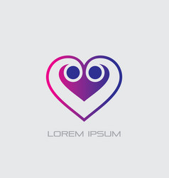 love sign logo vector image