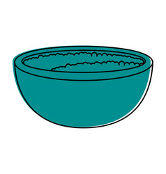 rice bowl foood vector image vector image