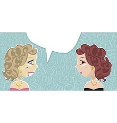Talking Ladies vector image