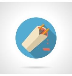 Burrito flat color design icon vector image vector image