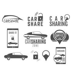 Car share logo designs set Sharing vector image vector image