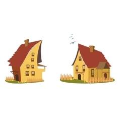 Cartoon home set vector image