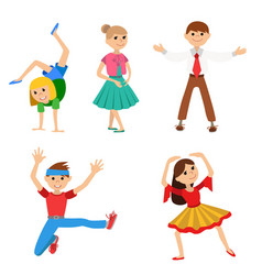 children dancing vector image vector image