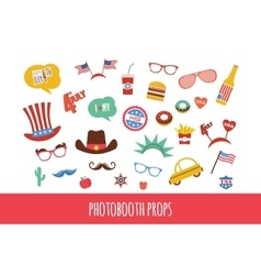 costume props for independence day of America vector image