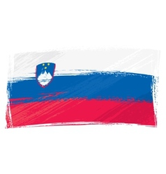 Grunge slovenia flag vector