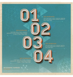 Retro color options number banner vector image