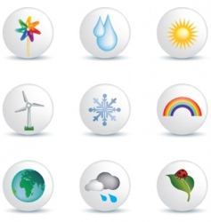 weather white buttons vector image