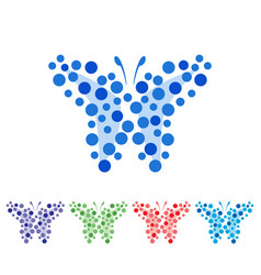 Abstract butterfly art vector