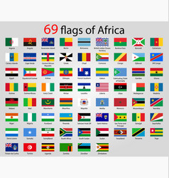 All flags africa world flags vector