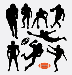 American football player silhouettes vector