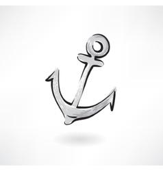 Anchor grunge icon vector