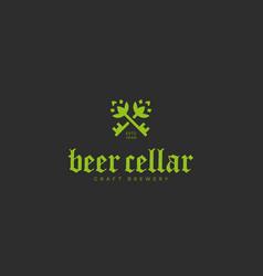 Beer cellar logo vector
