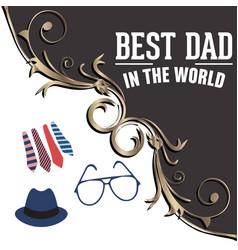 best dad in world - stock social media vector image