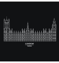 Big Ben and Parliament Icon 1 vector image
