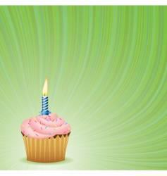 Birthday green background vector