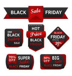 black friday sale red and design vector image