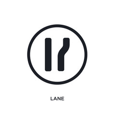 Black lane isolated icon simple element from vector