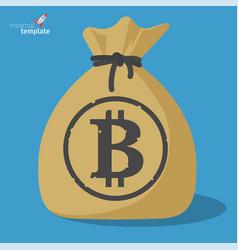 blockchain bitcoin savings vector image