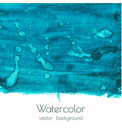 blue green watercolor texture background vector image