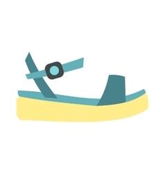 Blue women platform sandal icon flat style vector