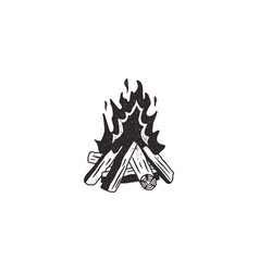 Bonfire retro icon vector