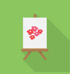canvas painting icon set of great flat icons vector image