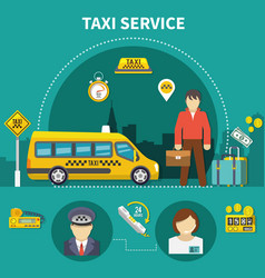 Car service taxi composition vector