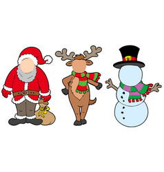 Christmas characters without face vector