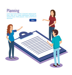clipboard checklist with people isometric vector image