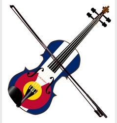 Colorado fiddle vector
