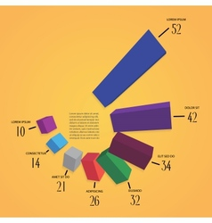 Colorful 3d infographics vector