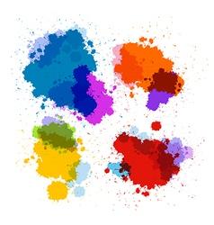 Colorful Transparent Stains Blots Splashes Set vector image