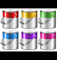 Containers with paint vector
