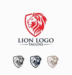 Creative lion king logo image vector