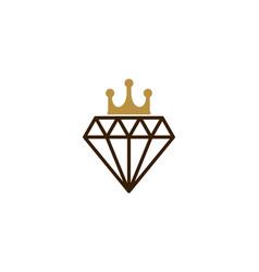 diamond king logo icon design vector image