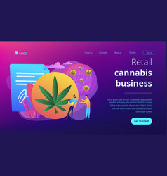Distribution of hemp products concept landing page vector