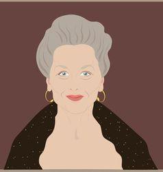 Elderly woman vector