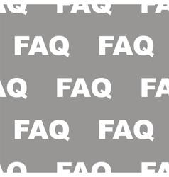 Faq seamless pattern vector image