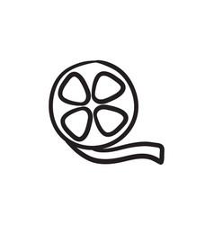 film reel sketch icon vector image