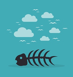 Fish bone3 vector image