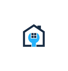 fix house logo icon design vector image