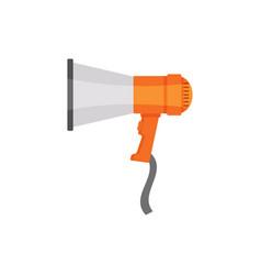 flat design of gray-orange loudspeaker vector image