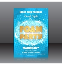 Foam party flyer vector image