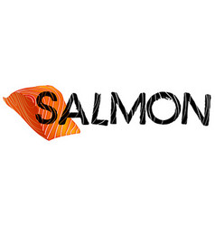 Font design for word salmon vector