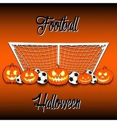 Football and Halloween vector image