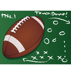 football touchdown vector image vector image