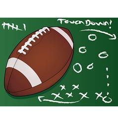 Football touchdown vector