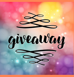 giveaway freebies for promotion in social media vector image