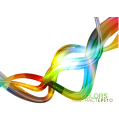 Glossy lines colors vector